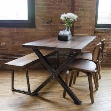industrial table reclaimed wood furniture custom made kitchen industrial modern frame reclaimed wood table