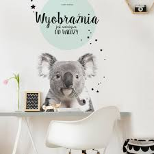 wallsticker koala and his imagination dekornik pl fototapety i animals