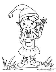 printable elf coloring pages cute little girl elf coloring pages enjoy coloring printable