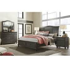 oxford wood sleigh storage bed in peppercorn humble abode