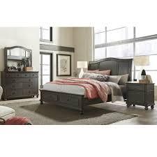 Palliser Alula Oxford Wood Sleigh Storage Bed In Peppercorn Humble Abode