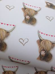 cow wrapping paper highland cow wrapping paper gift wrap for highland cow