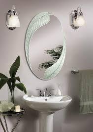 Frameless Bathroom Mirror Modern Frameless Bathroom Mirrors Making Up The Bathroom Sink