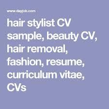 Resume Hair Stylist Hair Stylist Cv Template Top 8 Junior Hairdresser Resume Samples