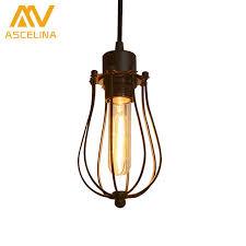 Country Pendant Lights Ascelina Led Pendant Light Edison Light Bulb Loft American Country