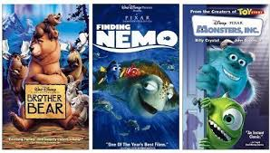 amazon brother bear finding nemo monsters vhs