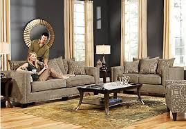 cindy crawford living room sets picture of cindy crawford sidney road taupe 5pc classic living room
