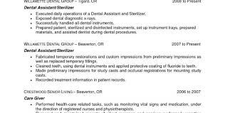 Dental Assistant Resume Examples No Experience by Dental Assistant Resume Work Experience Dental Assistant