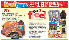 h e b turkey meal deal get 16 90 in free items w purchase