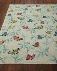 Horchow Outdoor Rugs Horchow Butterfly Blossom Indoor Outdoor Rug 5 X 7 6 Sale