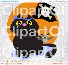 halloween bat no background royalty free rf clipart illustration of a black cat with a