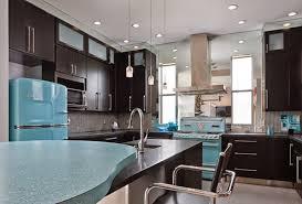 black kitchen appliances ideas shining teal fridge with retro appliances black cabinet and