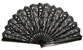 black lace fan large black lace fan date ca 1885 1895