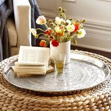 Round Trays For Coffee Tables - 11 best ottoman trays of 2017 stylish serving trays for your