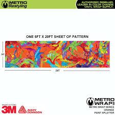 metro orange paint splatter vinyl wrap film shop online or call