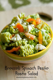 Best Pasta Salad Recipe by Broccoli Spinach Pesto Pasta Salad Eazy Peazy Mealz