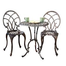 Copper Patio Table Best Selling Charleston Aluminum Copper Bistro Set