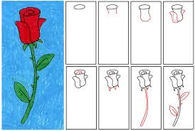 easy things to draw step by step flowers drawing ideas for kids