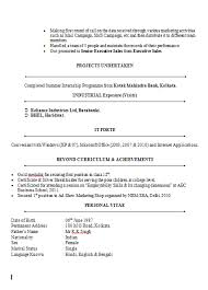 Mba Application Resume Examples by Sample Of Cv Marketing