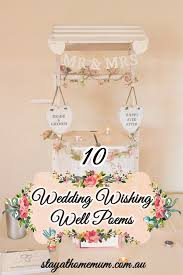 wedding gift poems non cheesy wedding wishing well poems stay at home