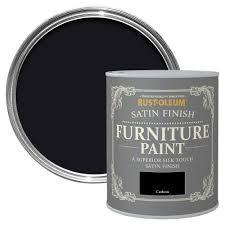Gray Furniture Paint Rust Oleum Carbon Satin Furniture Paint 0 75l Departments Diy