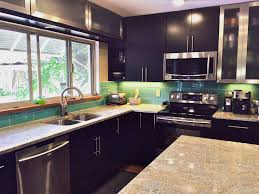 Kitchen Backsplash Installation by Aqua Blue Glass Subway Tile In Pool Modwalls Lush 4x12 Tile