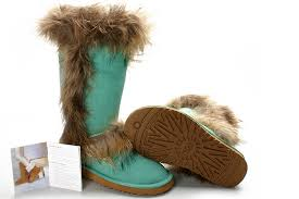 womens ugg boots fox fur ugg mini bailey button black ugg khaki fox fur boots 8686 outlet