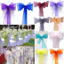chair sash 100 chair sashes venue decorations ebay