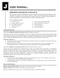 Resume Sample Bookkeeper by Sample Resume General Ledger Accountant Templates