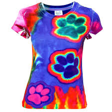 electric paws tie dye tee the animal rescue site