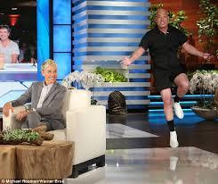 Hawaii Chair Ellen Howie Mandel Shows Excitement In Romper On Ellen Daily Mail Online