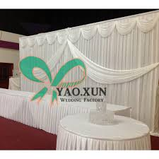 wedding backdrop prices cheapest price white color wedding backdrop curtain stage