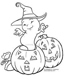 print ghost pumpkin printable halloween coloring pages