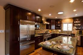rectangle kitchen ideas glossy wooden kitchen cabinet with rectangle kitchen island l