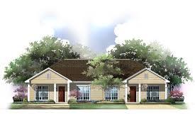 duplex bungalow plans house plan duplex house plans the plan collection plan of duplex