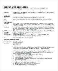 resume web developer resume indeed senior sample examples in word