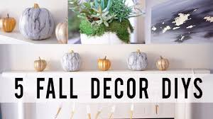 5 fall home decor diy projects contemporary style ann le youtube