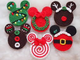 mickey mouse minnie mouse crochet pattern christmas ornament
