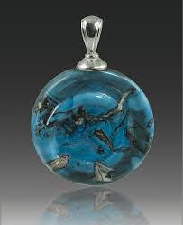 cremation pendants helix glass cremation pendant