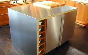 stainless steel kitchen island table ikea top with drop leaf sink