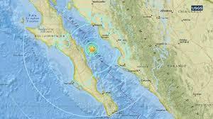 map of mexico and california 6 3 magnitude earthquake strikes in gulf of california near