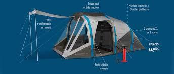 toile de tente 4 places 2 chambres decathlon