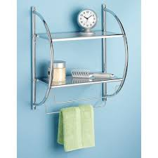 Bathroom Chrome Shelves Whitmor Chrome Shelves And Towel Rack Walmart