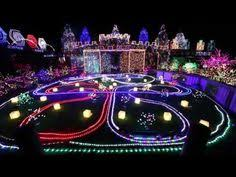 johnson family christmas lights one of the competitors in abc s the great christmas light fight is