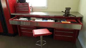 Tool Bench For Garage Workspace Craftsman Workbench With Drawers For Your Shop Or