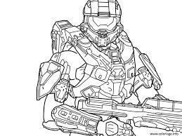 Coloriage Halo 5 Free dessin