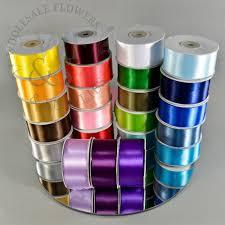 cheap satin ribbon single poly satin ribbon 1 5 assorted colors wholesale