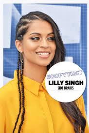 copythat lilly singh u0027s über cool side braids video