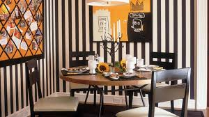 charming dining room designs with striped walls youtube
