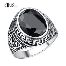 aliexpress buy mens rings black precious stones real 133 best brand kinel retro jewelry images on jewelry